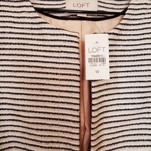 LOFT Jackets & Coats - Ann Taylor Loft white and black blazer jacket